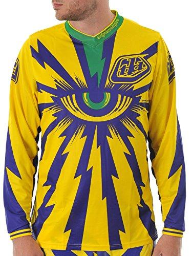 Troy Lee Designs Yellow-Purple 2013 Gp Cyclops Mx Jersey S  Yellow