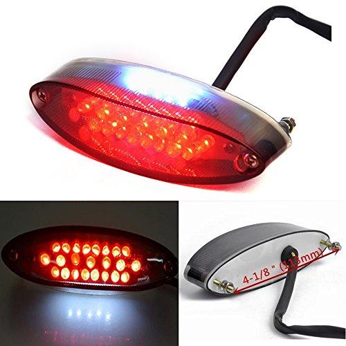 Red Motorcycle 28 LED Tail Brake Stop License Plate Light for All Cruiser Bike ATV