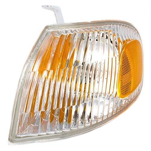 CarPartsDepot 1998-2002 Chevy Prizm Front Driver Left Corner Light Side Signal Lamp Amber