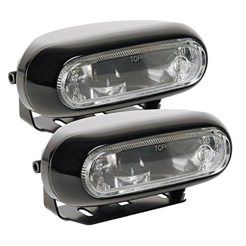 Optilux H71010281 Model 1200 12V55W Rectangular Clear Halogen Fog Lamp Kit
