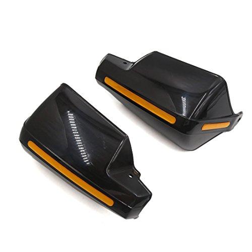 uxcell Pair Balck Motorcycle 78 Inch Handlebar Brush Bar Hand Guard Handguard Protector