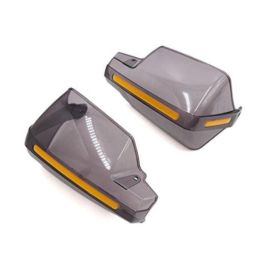uxcell Pair Gray Motorcycle 78 Inch Handlebar Brush Bar Hand Guard Handguard Protector