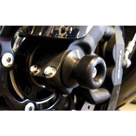 05-13 YAMAHA YZF-R6 Shogun Motorsports Front Axle Sliders - Black