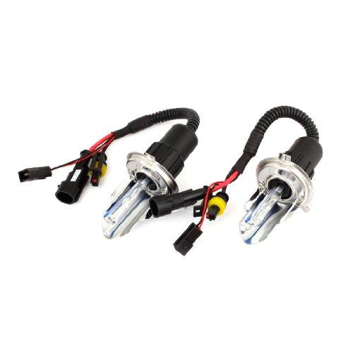 2Pcs 35W 8000K HID Xenon H4 Headlight Bulbs for Vehicle Car