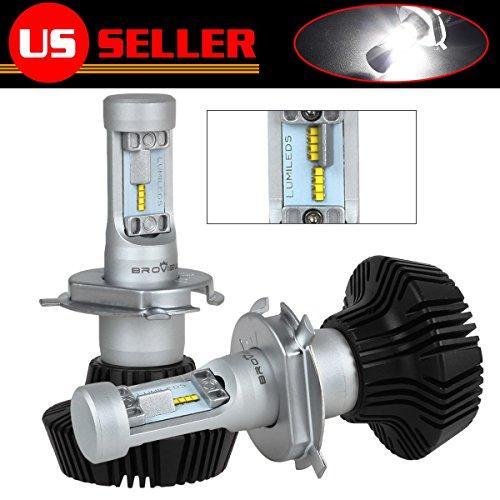 BROVIEW S7 H49003 High Power LED Dual beam Headlight Conversion kit8000 LM Bulb Kit - 2pcsset
