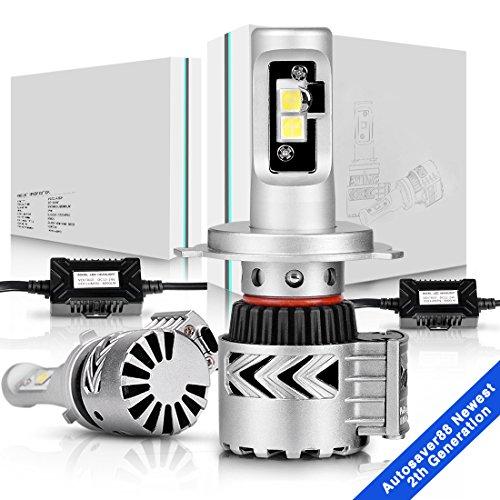 H4 9003 LED Headlight BulbAUTOSAVER88 Conversion Kit Hi  Lo Beam Super Bright12000Lm- 6k White
