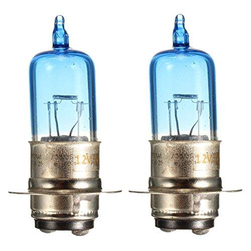 H4 Headlight Bulb 2 Pieces 35W 12V Motorcycle Headlight Bulb ATV Lamp H4 Base for Kawasaki for Honda for Suzuki