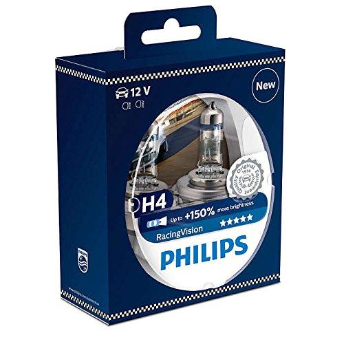 Philips RacingVision H4 Headlight Bulbs Twin 12342RVS2 Xtreme Vision Upgrade