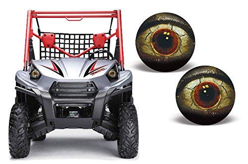 AMR Racing UTV Headlight Eye Graphic Decal Cover for Kawasaki Teryx 10-14 - Fright