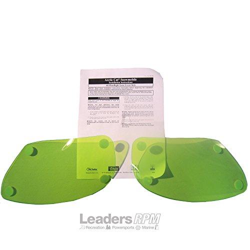 Arctic Cat New OEM Headlight Covers PAIR Green Tint F-Series F800 F1100 Z1 F570