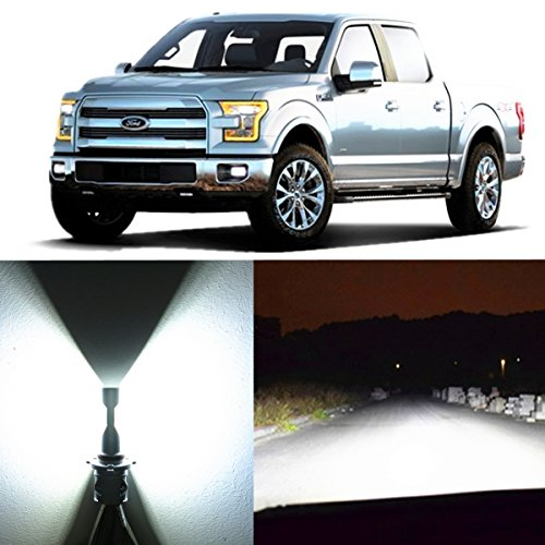 Alla Lighting 2pcs Super Bright H13 White LED Bulbs Dual High Low Beam Headlight Conversion Kits for 2004~2014 Ford F150 F250 F350 F450 F550 2005~17 F-250  F-350 F-450  F-550 Super Duty