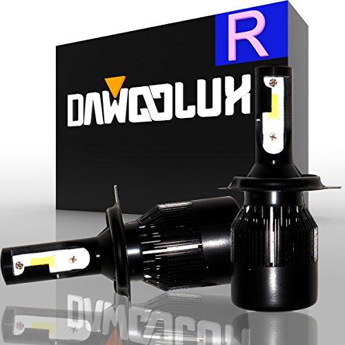 DawooLux H49003HB2 LED Headlight Kits COB Flip Chips Adjustable Beam 60W 6400LM 6500K-Dual HiLo Beam Bulbs