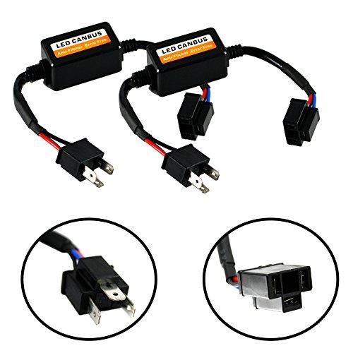 H4 HB2 9003 LED Canbus Error Free Decoder Adapter Anti Flicker Flash Computer Warning Error Canceler For LED Headlights Fog lights DRL Bulbs