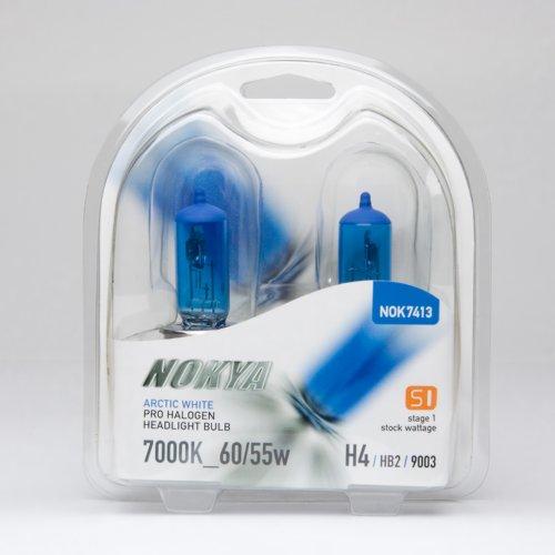 Nokya H49003 Headlight Bulbs — Arctic White 7000K 6055W Stage 1