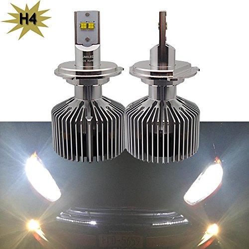 Nslumo 2x 45W H4 9003 4500LM LED Lumiled Motorcycle DC12V Car Headlight Headlamp Motor Fog Lamp Bulb Light Highlow Driving H4 HB2 9003 5000K