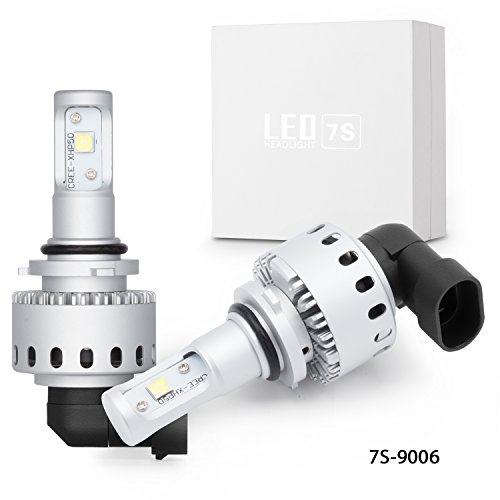 9006 Headlights Bulbs Leader Car Accessories LED Automobile Bulbs with Advanced LED Chip and All-in-One Conversion kit-40W8000LM6500K- 3 Year Warranty Upgraded Version 9006