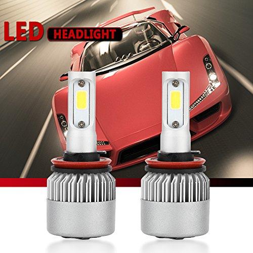 H11H8H9 LED Headlight Conversion Kit Auto Car Led Headlamp Car Bulbs 6000K Cool White  All-in-One Error Free Design H11 H8H9
