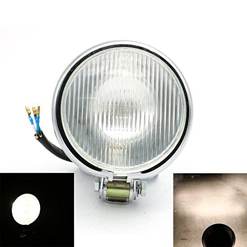 Motofans 5 35W Chrome Motorcycle White Headlight Head Lamp For Harley Honda Bobber Chopper