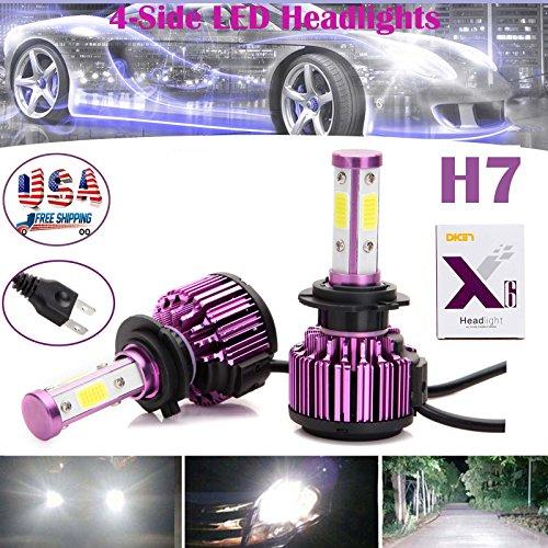 4-Side H7 LED Headlight Conversion Kit 20000LM Bulb High or Low Beam Car Light Plug Play - 2 Year Warranty