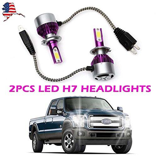 New 2X H7 LED Headlight Conversion Kit COB Chip Lamp Bulbs 180W Super Bright