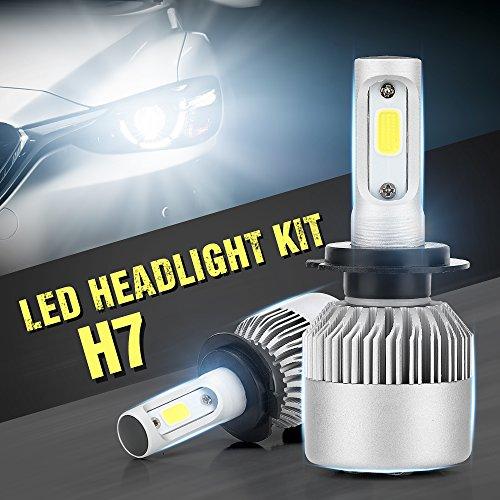 YUK 9-30V H7 LED Headlight Conversion Kit Auto Car Led Headlamp Car COB Bulbs 6000K 80W 8600LM Error Free Design