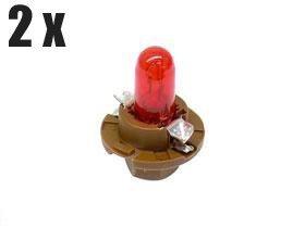 Mercedes Dashboard Instruments Bulb Brown  Red x2 bulbs dash gauge lamp light