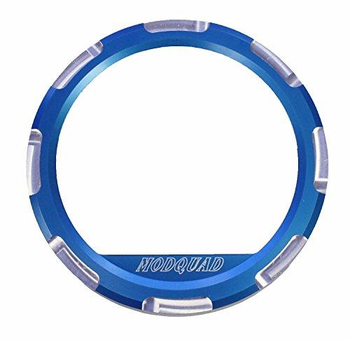 Modquad Blue Dash Gauge Bezel Polaris RZR
