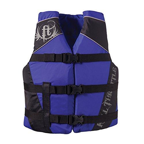 Full Throttle 112200-500-002-14 Youth Water Sport Vest BlueBlack  50-90 lbs
