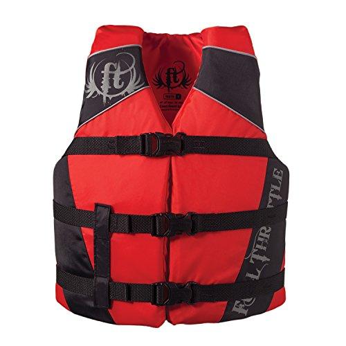 Full Throttle Youth Nylon Watersports Vest - RedBlack