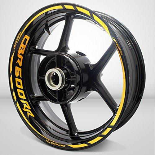 Honda CBR 600RR Reflective Yellow Motorcycle Rim Wheel Decal Accessory Sticker