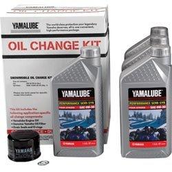Yamaha LUB-SMBCG-KT-10 Snowmobile 4 Cyl SS Oil Change Kit LUBSMBCGKT10 Semi-Synthetic
