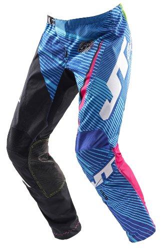 JT Racing USA Youth Flex MX Mens Motocross Dirt Bike Pants BlackBluePink Size 28
