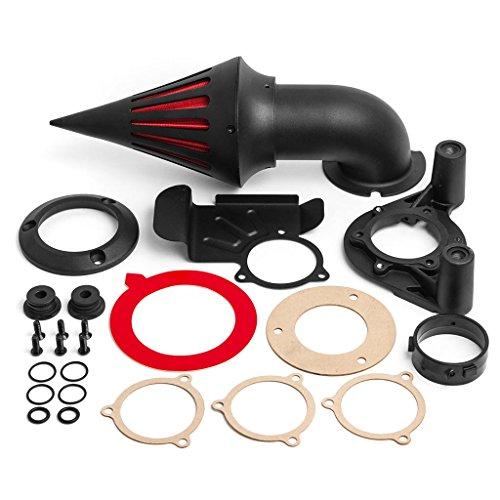 Krator Black Spike Air Cleaner Intake Filter For 2008-2012 Harley Davidson Dyna Touring