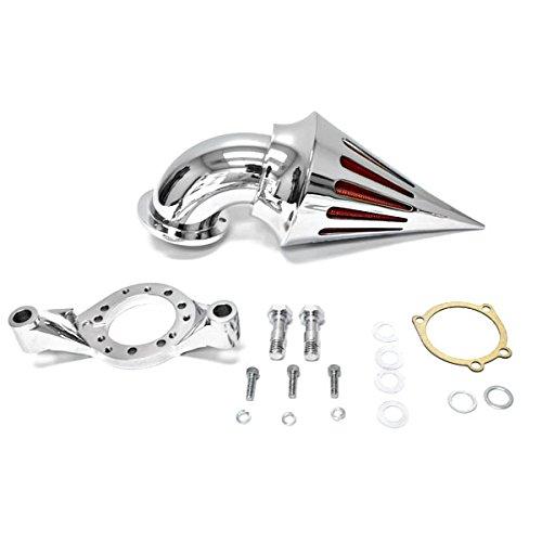 Krator Harley Davidson CV Carburetor Delphi V-Twin Cruiser Chrome Billet Aluminum Cone Spike Air Cleaner Kit Intake Filter Motorcycle