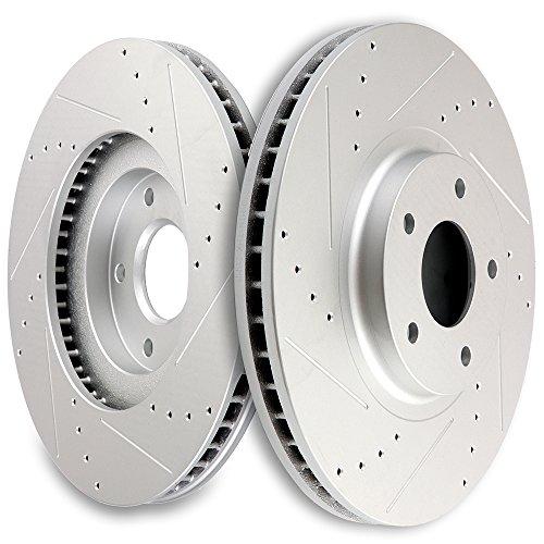 SCITOO Front 320 mm Discs Brake Rotors for Infiniti EX35 EX37 G25 G25X G35 G35X G37 G37X M35 M35h M37i M37X M45 M56 M56Xi Q40 Q70 Q70L QX50s QX70