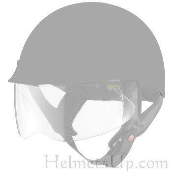 3-screw System Face Shield Visor Lens for Motorcycle Half Helmet Clear