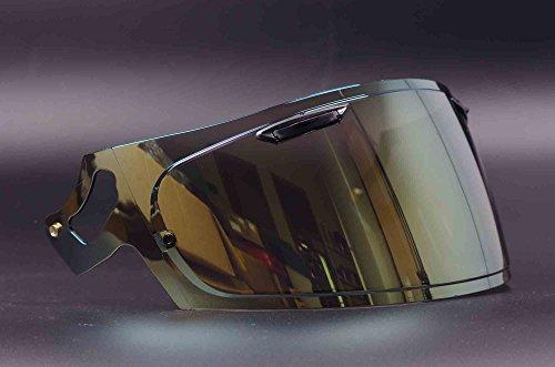 VAS-V Aftermarket Tinted Lens Face Shield Visor for Arai RX-7X CORSAIR-X RX-7V PB-SNC Helmet Gold Mirror