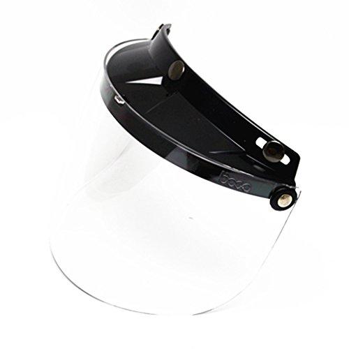 E-Bro Universal 3 Snap Flip Up Visor Face Shield Lens for Open Face Motorcycle Helmets Clear