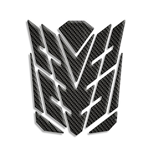 ZZXSWC K Series Universal Carbon Fiber Pattern Glossy Motorcycle Oil Gas Tank Pad Protector Sticker