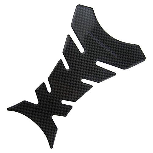 EFORCARTM 1pcs 3d Carbon Fiber Tank Pad Tankpad Protector Sticker For Motorcycle Universal Fishbone