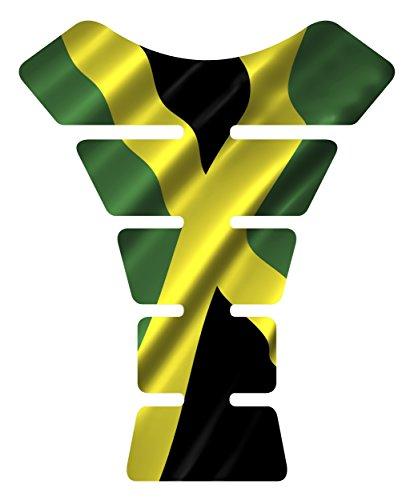 Motorcycle Jamaican waving jamaica flag sportbike gel tank pad protector tankpad guard sticker
