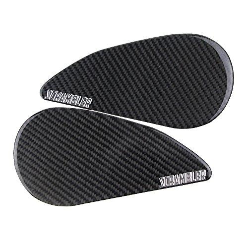 PRO-KODASKIN Motorcycle 3D Carbon Tank Pad Sticker Decal Emblem GRIPPER STOMP GRIPS EASY for DUCATI SCRAMBLER