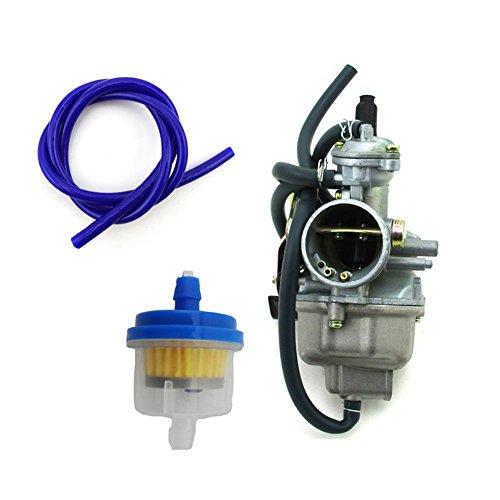 TC-Motor 27mm Carburetor Carb  Blue Fuel Hose For Honda TRX250 TRX250TE TRX250TM TRX 250 Fourtrax Recon 2002 2003 2004 2005 2006 2007 ATV Quad 4 Wheeler