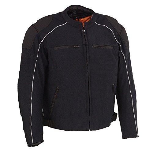 Milwaukee Performance Mens NylonMesh Combo Moto Jacket with Armor BLACK XL