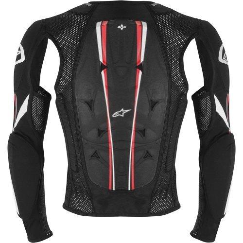 Alpinestars Bionic Pro Jacket Mens Protector MX Motorcycle Body Armor - BlackRed  Small