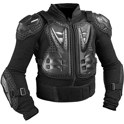 Fox Racing Titan Sport Jacket Youth Boys Roost Deflector MotoX Motorcycle Body Armor - Black  One Size