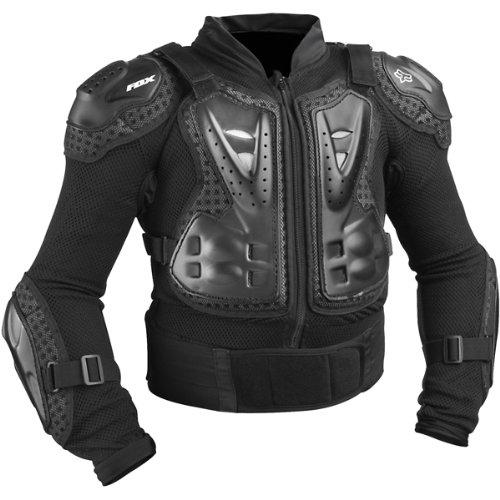 Fox Racing Titan Sport Jacket Youth Boys Roost Deflector MotoXOff-RoadDirt Bike Motorcycle Body Armor - Black  One Size