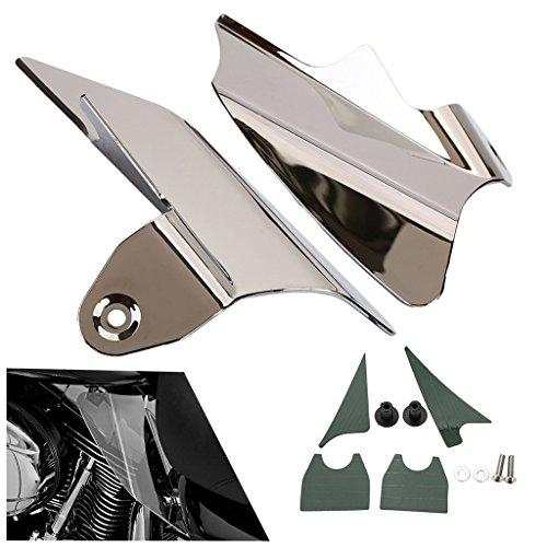 Reflective Saddle Shield Air Heat Deflector For Harley Street Glides 1997-2007 chrome