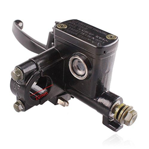 Left Hand Hydraulic Brake Master Cylinder with Handle Lever for 50cc 70cc 90cc 110cc 125cc 150cc 200cc 250cc Kids Atv Dirt Bike