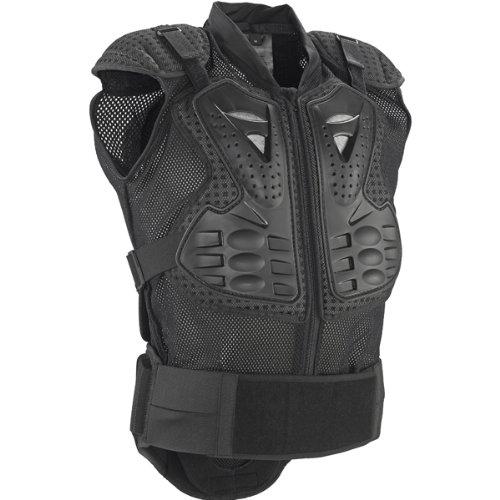 Fox Racing Titan Sport Sleeveless Jacket Mens Roost Deflector MXOff-RoadDirt Bike Motorcycle Body Armor - Black  Large